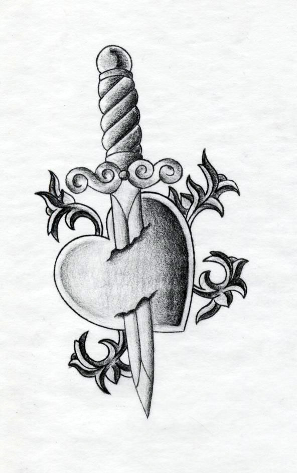 heart tattoo with initials. Tattoos: A tattoo with a heart