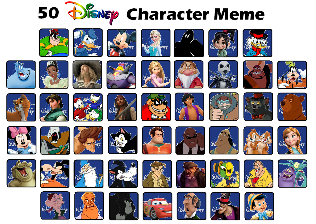 5 Best Cartoon Characters : Disney characters top