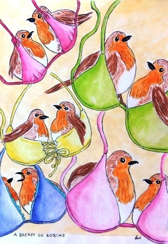 A breast of robins by Lew-Rosenberg
