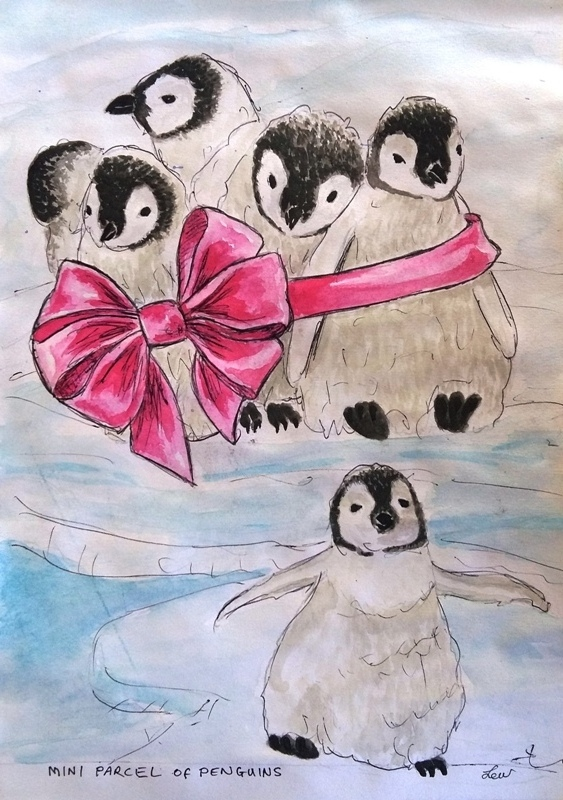 A mini parcel of penguins by Lew-Rosenberg