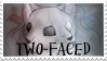 Two-Faced Stamp by Neonfluzzycat