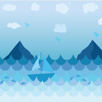 Monochromatic Blue Ocean by PixelXYZ ...