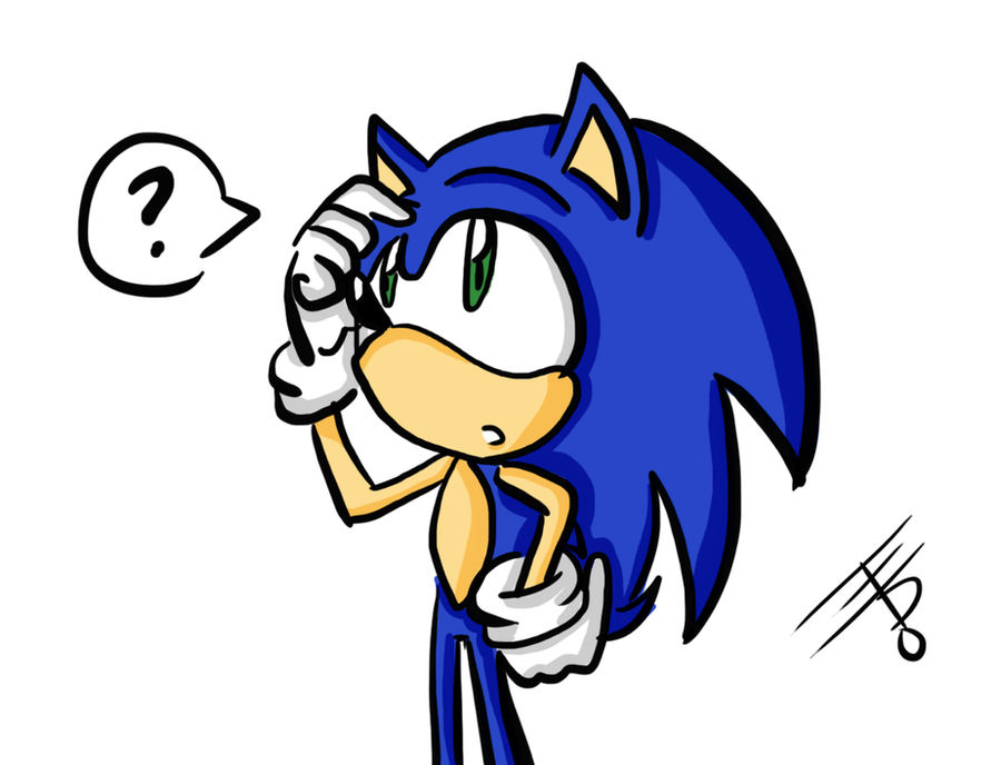 Confused Sonic by EdoBean