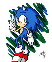 Random Sonic Drawing by EdoBean