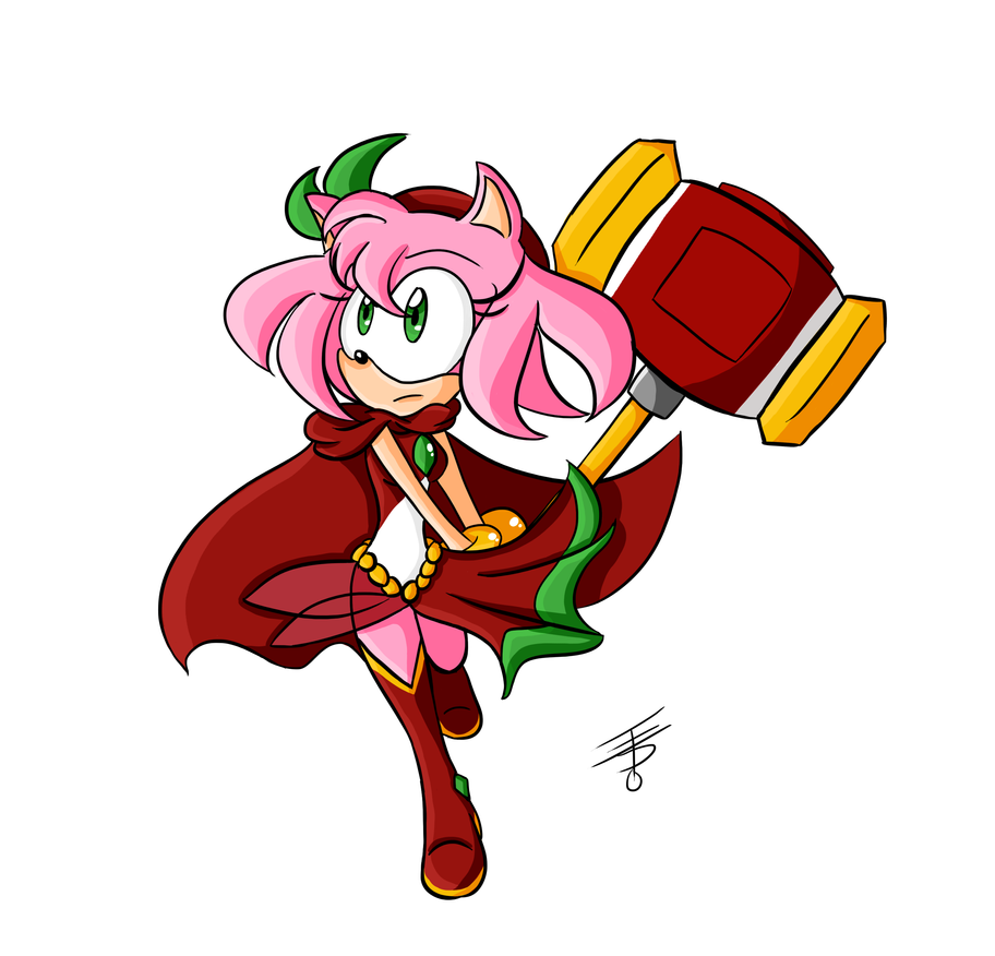 Amy Rose Fights Back! by EdoBean