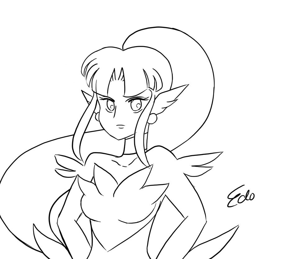 Random Water Lady Sketch by EdoBean