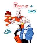 Undertale - Winking Papyrus and Sans