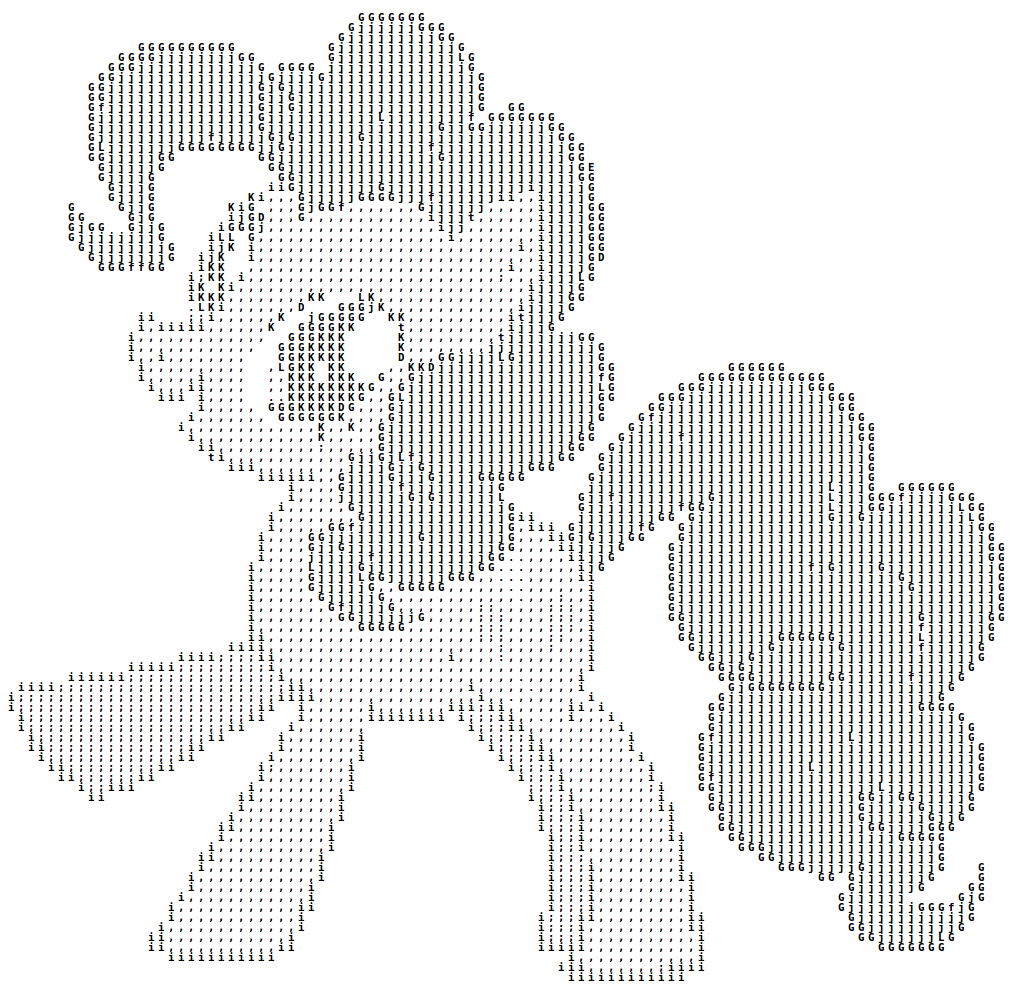 One Line Ascii Art Confused : Ascii art my little pony by rwmcfa on deviantart