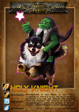 dota card holy knight by fallencypt on deviantart