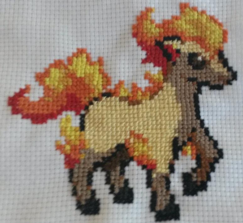Cross-Stitching - Ponyta by OtakaraAminelli