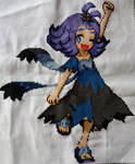 Cross-Stitch: Pokemon Sun and Moon - Acerola by Aminellelia