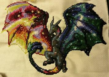 Cross-Stitch: Nebula Dragon