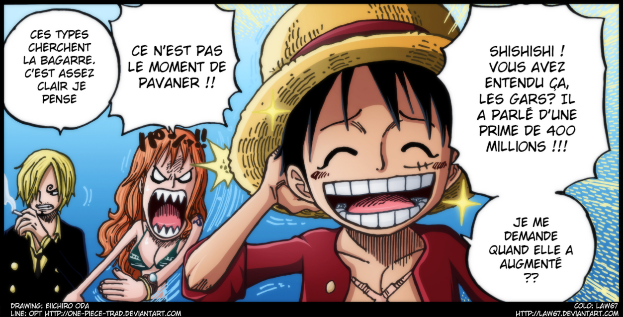 One Piece 628 Luffy epic face by Law67