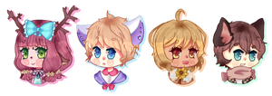 EXP Chibi Headshots by Kamirari