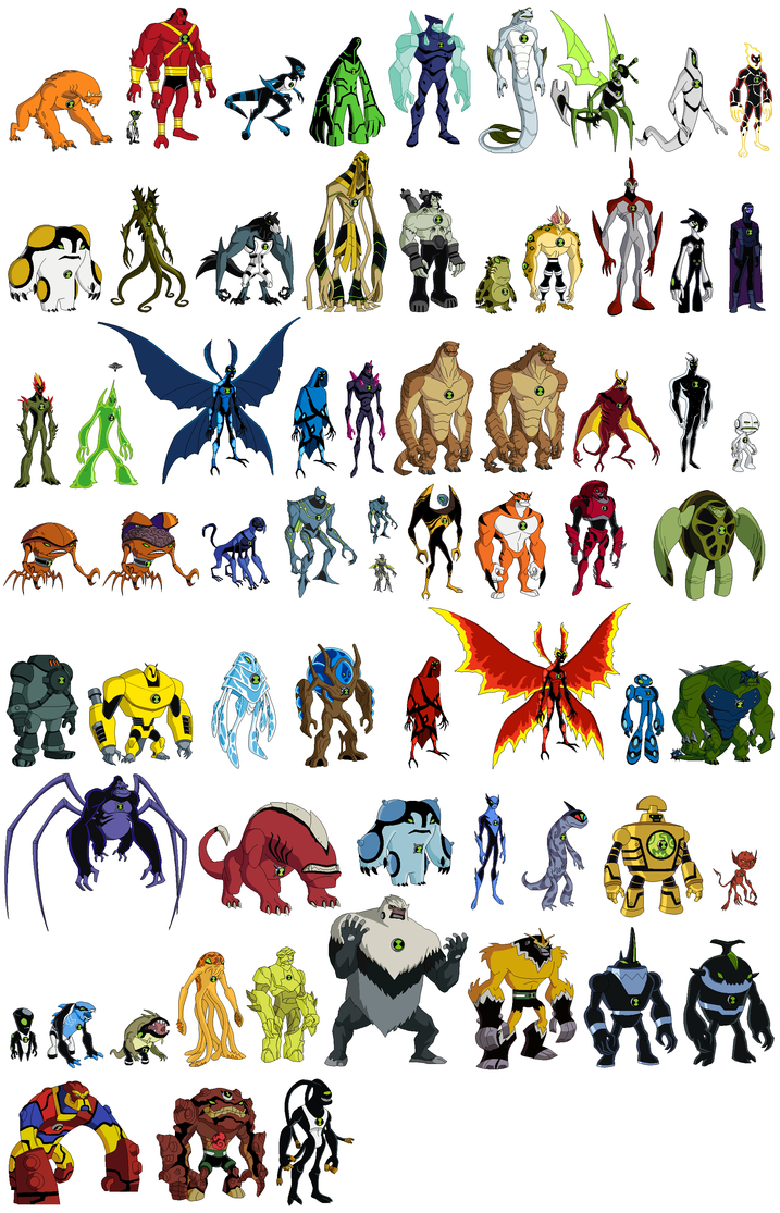 ben 10 all aliens