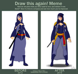 Draw It Again Psylocke 2012 vs. 2014 by Bort826TFWorld