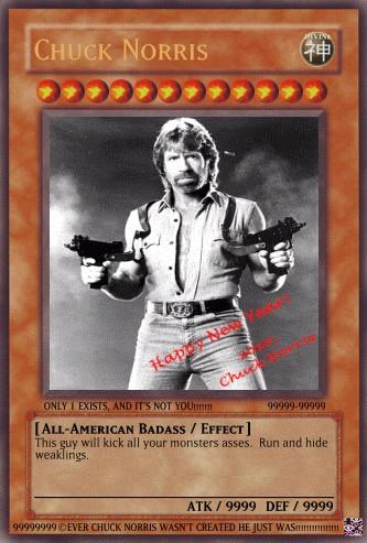Chuck Norris Yugioh Card by kizzfan911