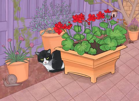 Garden Gnome Cat