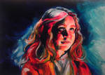 Alice Zhang Alicexz, acrylic portrait