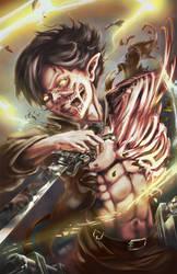 Attack on Titan - Eren by SinglePolygon