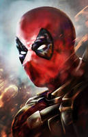 DeadPoolBust by SinglePolygon
