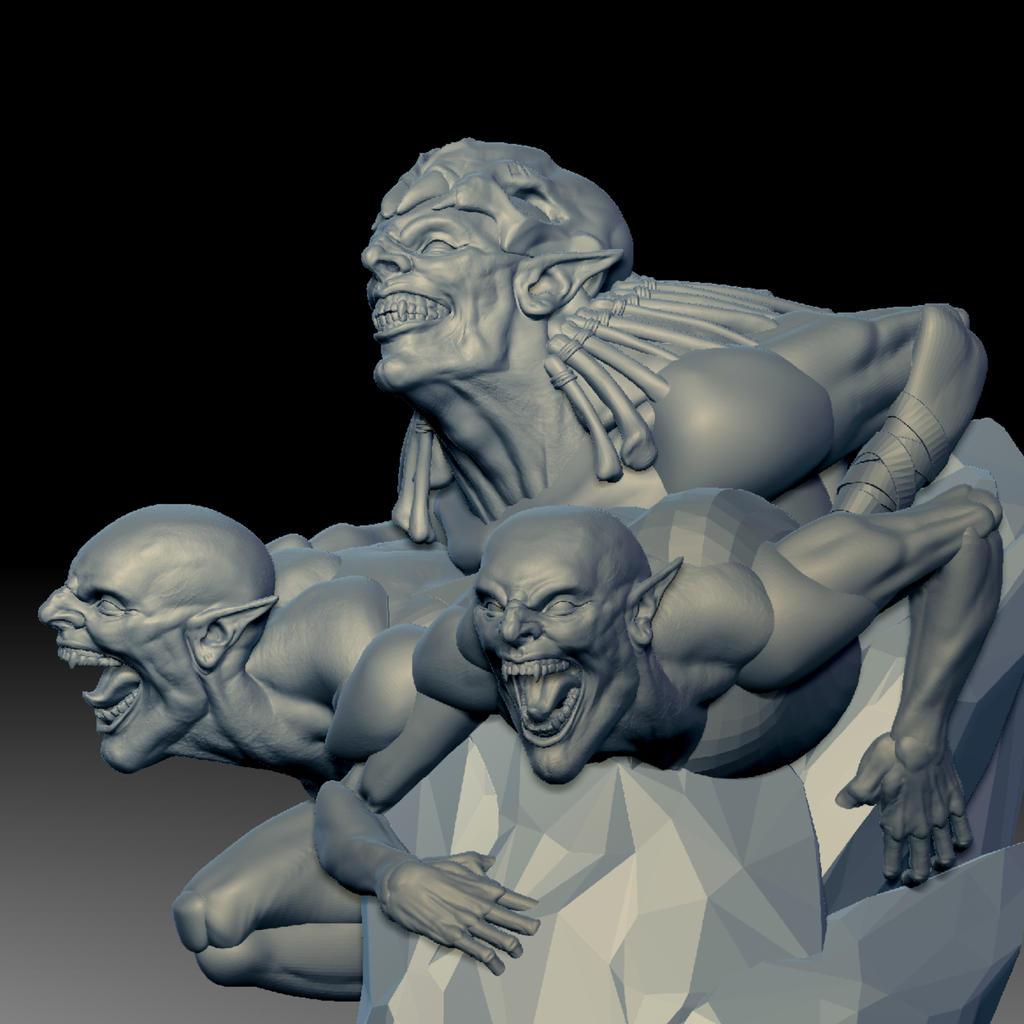 Goblin Sculpt WIP
