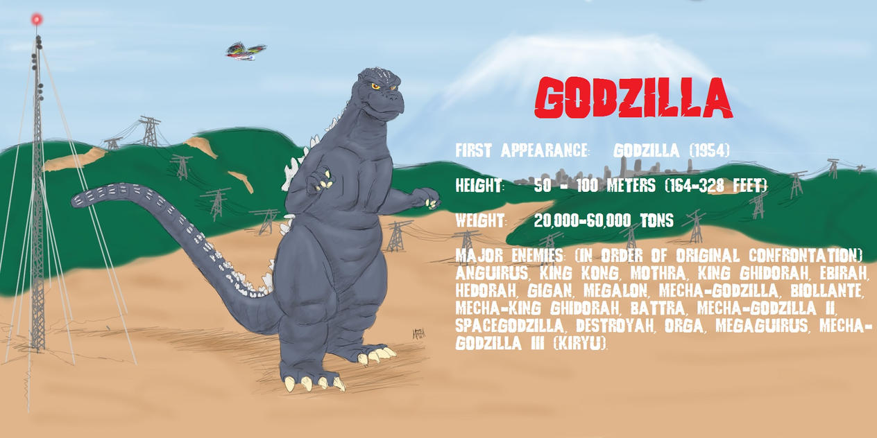 Godzilla by PickledGenius