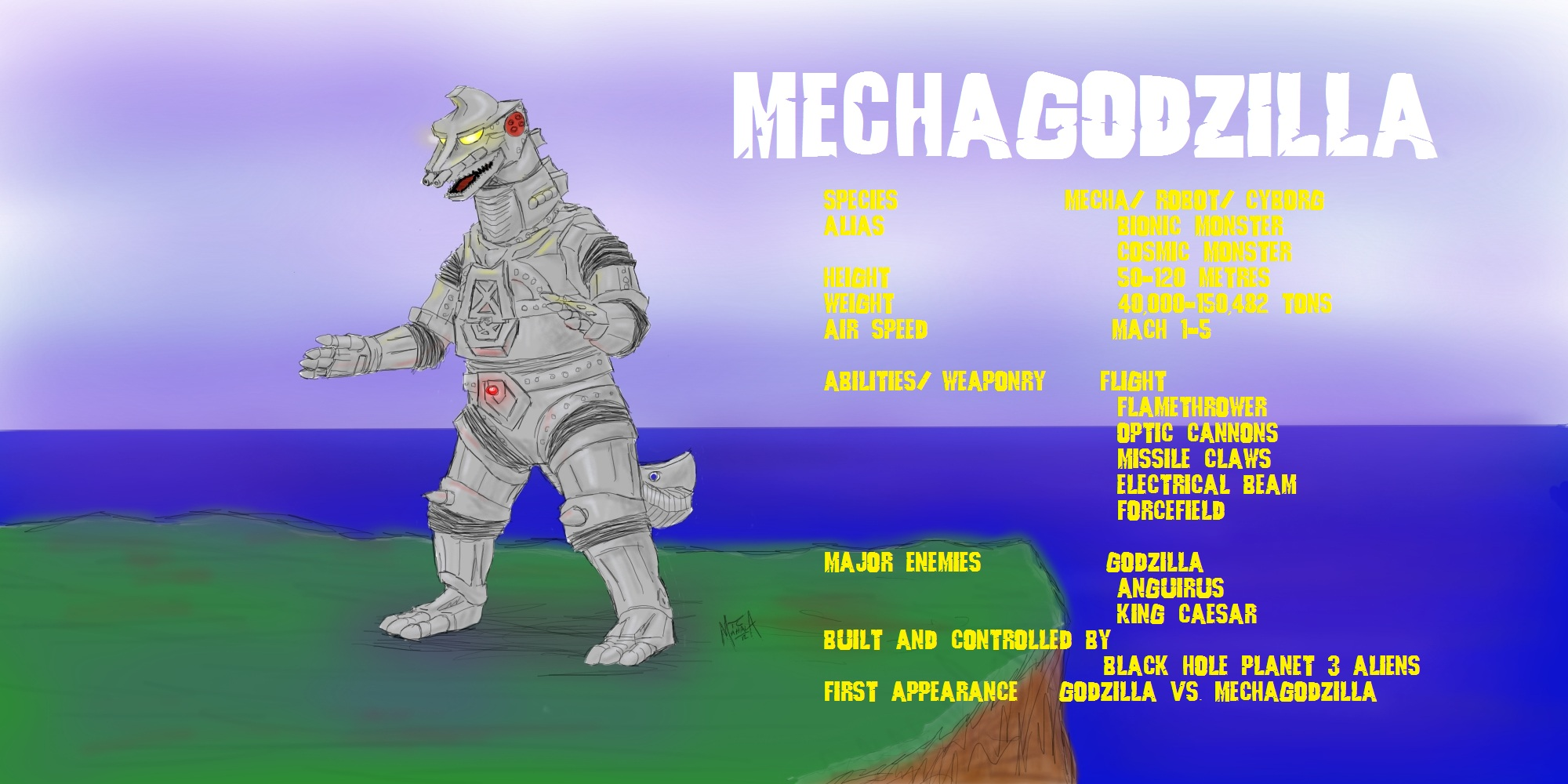 MechaGodzilla by PickledGenius