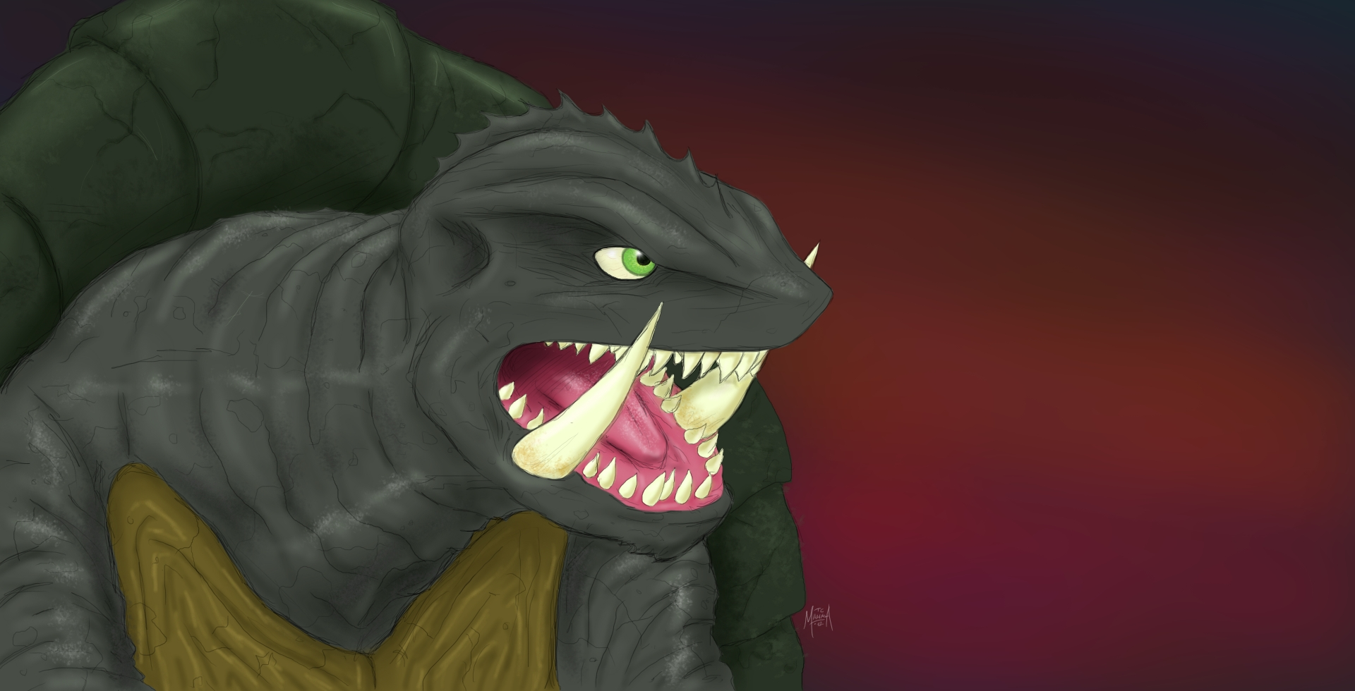 Gamera by PickledGenius