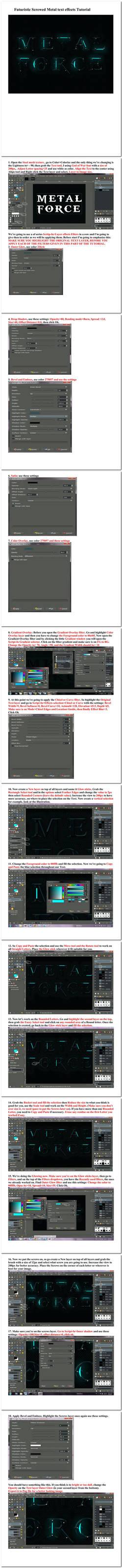Futuristic Screwed Metal text effects Tutorial