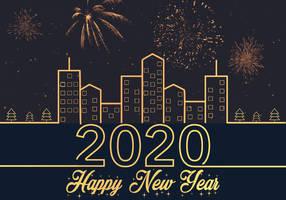 Happy New Year 2020 City