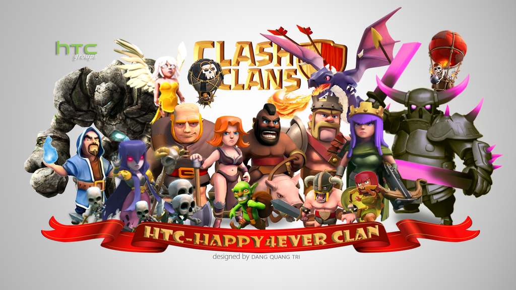 Htc happy forever htc happy4ever clash of clans by sharkpull on