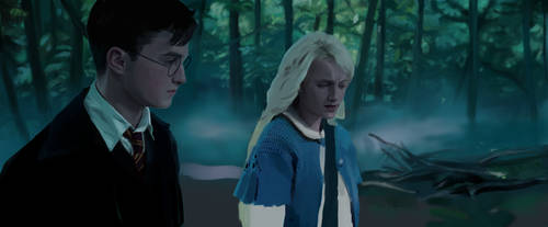 Luna and Harry, forest.