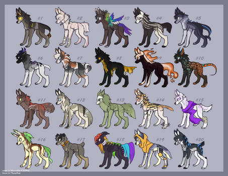 Canine adopts 01 | 10/20 OPEN
