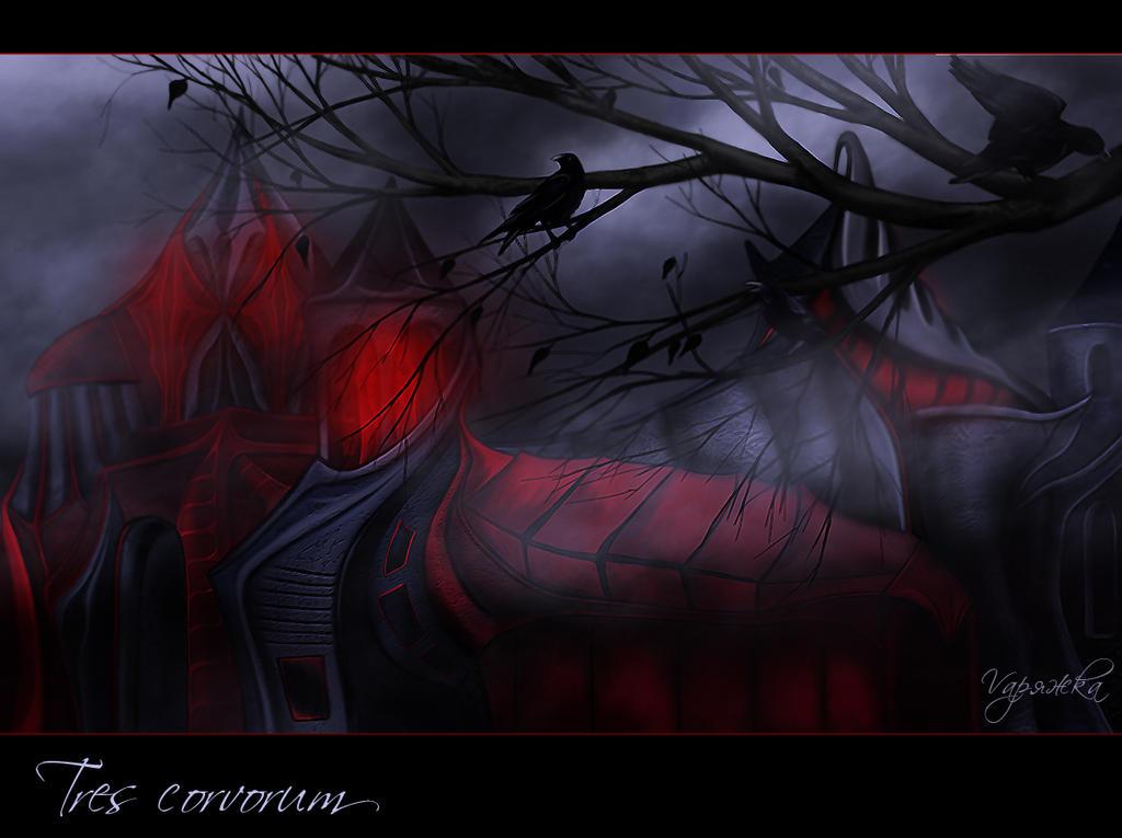 Three ravens by Varagka