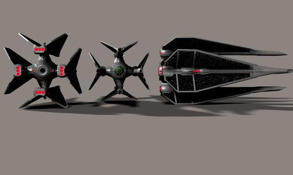 TIE Raptor Prototype by Robotlouisstevenson