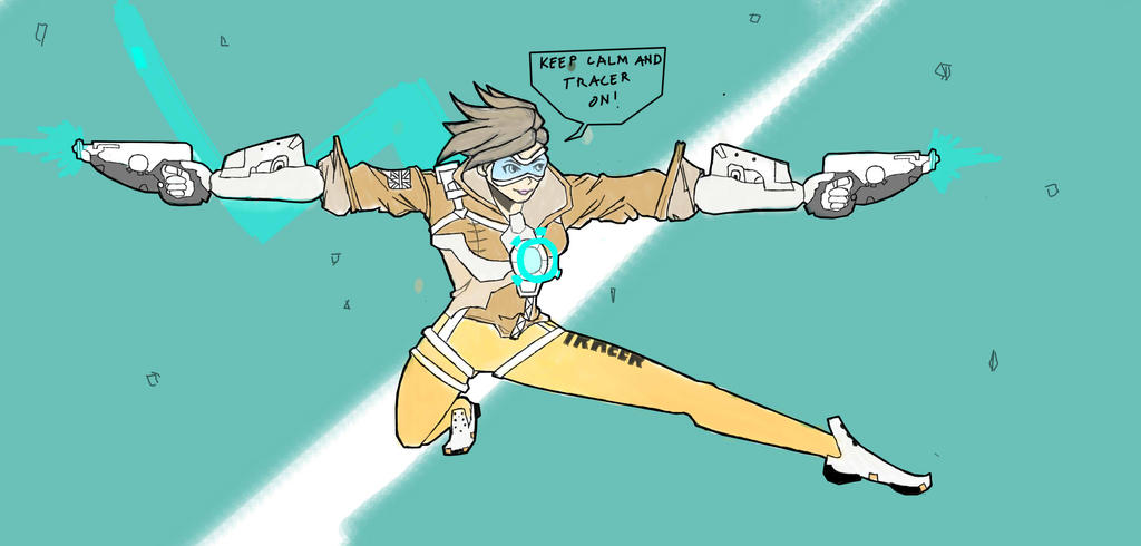 Tracer Overwatch Keep Calm by michaelaquino000