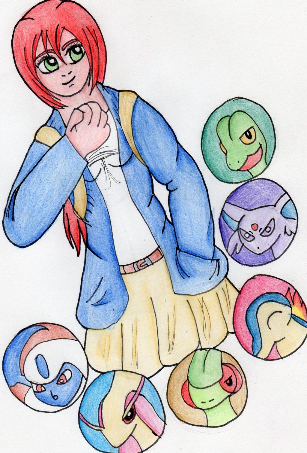 Pokemon: Mio's Team by kakashisgirlfighter