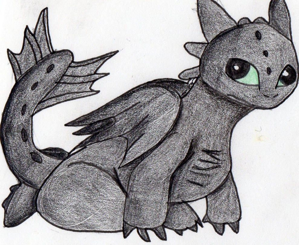 This is a photo of Bewitching Baby Toothless Drawing