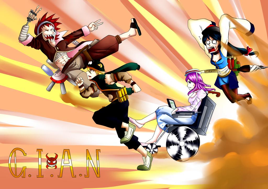 Team G.I.A.N (RWBY OCs) by ARSONicARTZ
