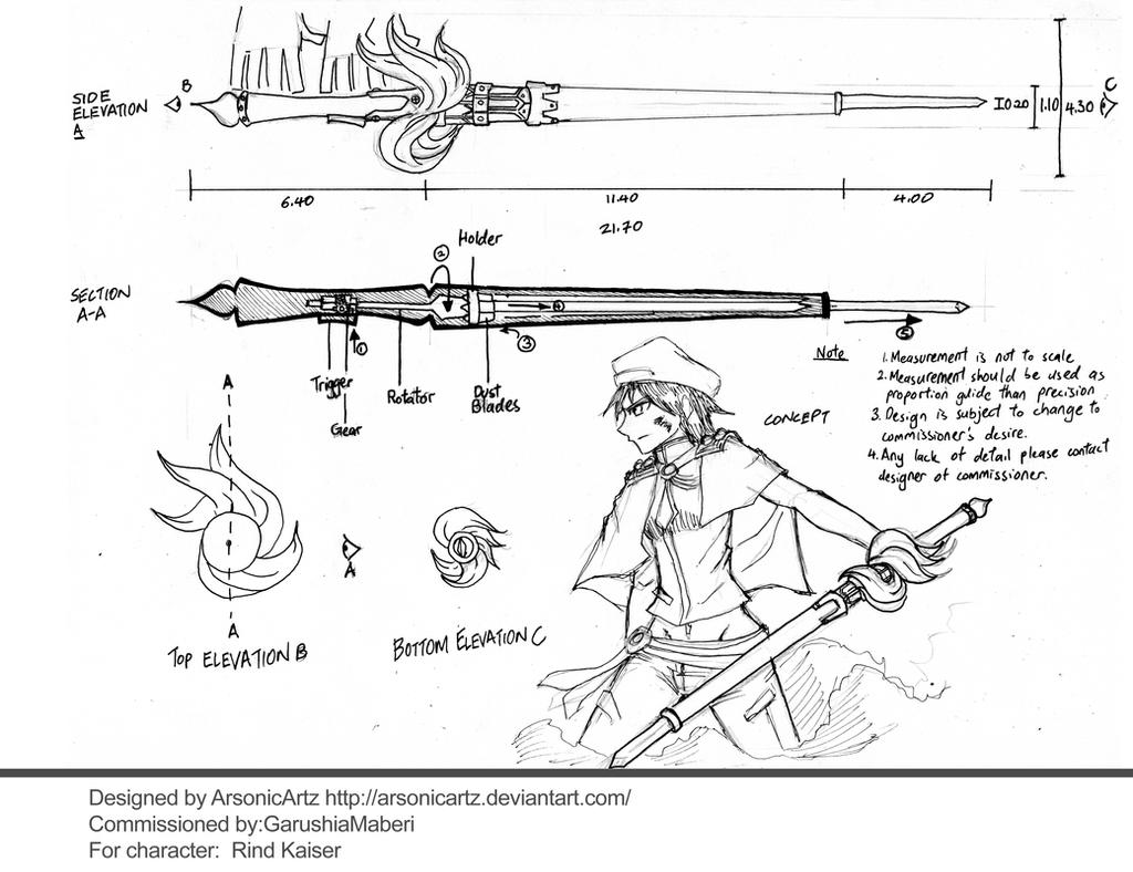 June Request 3- Weapon design by ARSONicARTZ