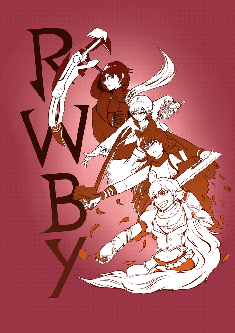 Sketch- TEAM RWBY by ARSONicARTZ