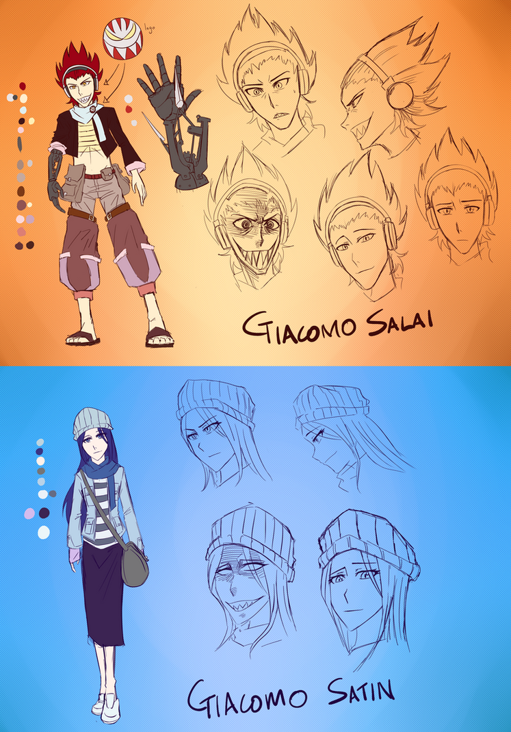 Giacomo Character Sheet Reference by ARSONicARTZ