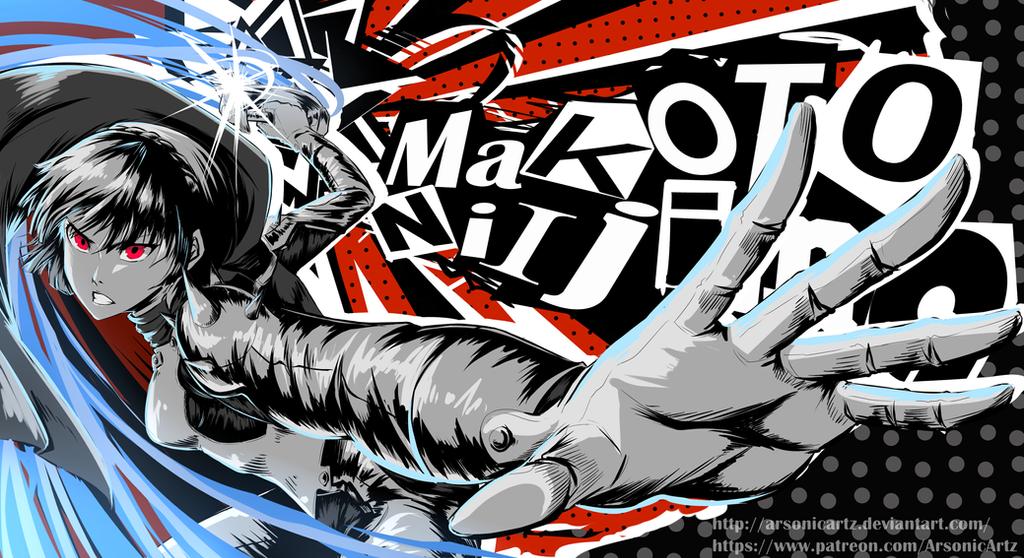 Persona 5- Makoto Niijima by ARSONicARTZ on DeviantArt