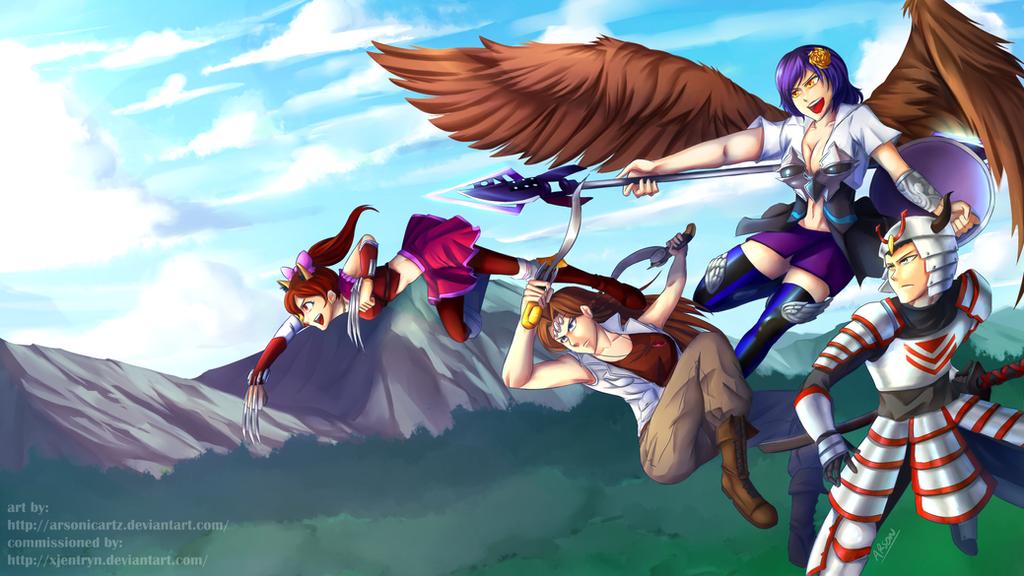 Commission- Team THSL by ARSONicARTZ