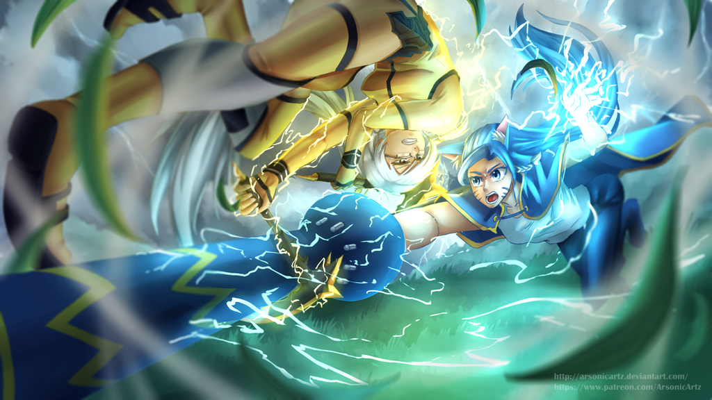 Commission- Clash of Two Bolts by ARSONicARTZ