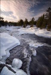 Winter River by Sarah--Lynne