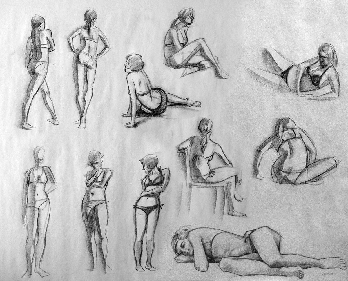 Figure Drawing Jan-Feb 09 by moth-eatn on DeviantArt