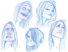 Self Caricatures by moth-eatn