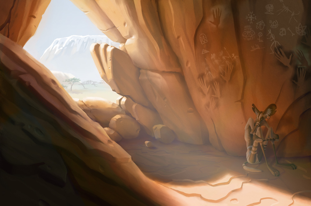 Painted Wolf Hideout by moth-eatn